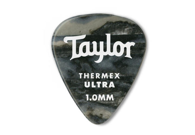 TaylorWare Taylor Premium Darktone® 351 Thermex Ultra Picks, Black Onyx, 1.00mm, 6-Pack