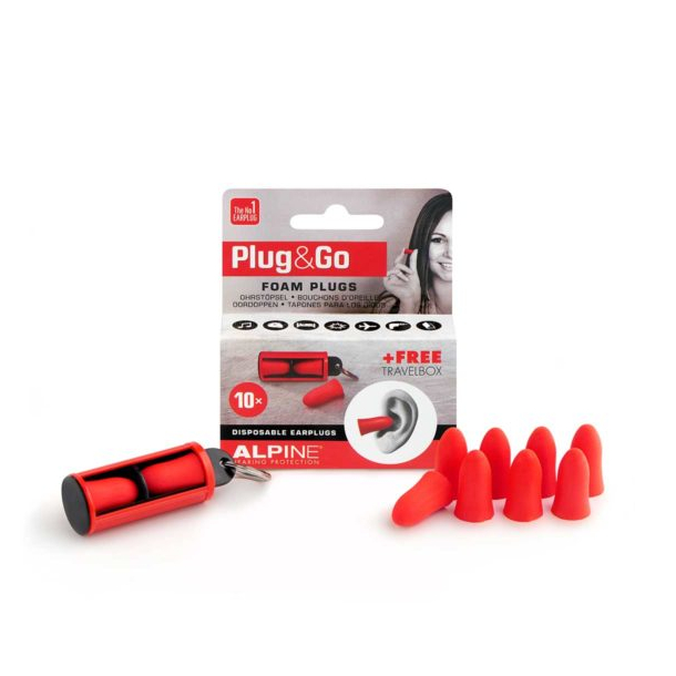 Alpine Plug and Go foam earplugs