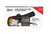 Squier Stratocaster® Pack, Laurel Fingerboard, Brown Sunburst, Gig Bag, 10G - 230V EU