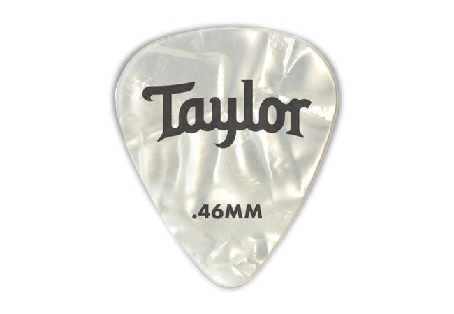 TaylorWare Taylor Celluloid 351 Picks, White Pearl, 1.21mm, 12-Pack