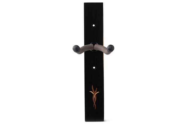TaylorWare 1407 Guitar Hanger,Crelicam Ebony,Bouquet Myrtlewood/Boxwood Inlay