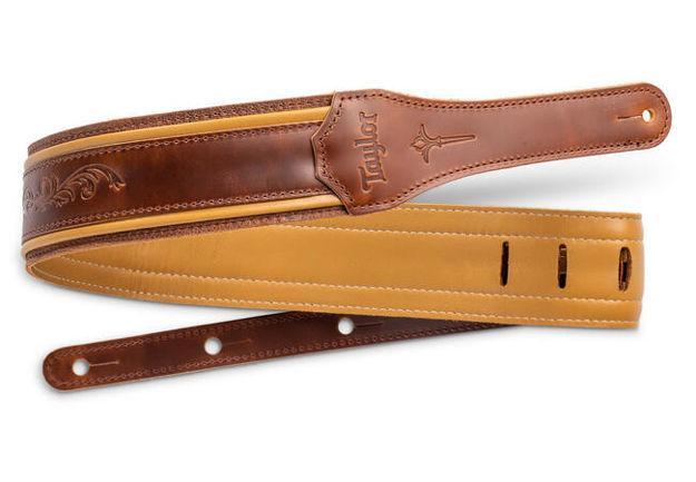 "TaylorWare 4118-25 Taylor Nouveau Strap, Med Brown Leather, 2.5"" Brn, Butterscotch, Distress Brn"