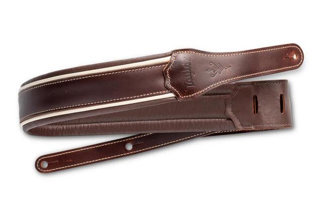 """TaylorWare 4108-25 Taylor Century Strap, Cordovan Leather, 2.5"""" Cordovan/Cream/Cordovan"""