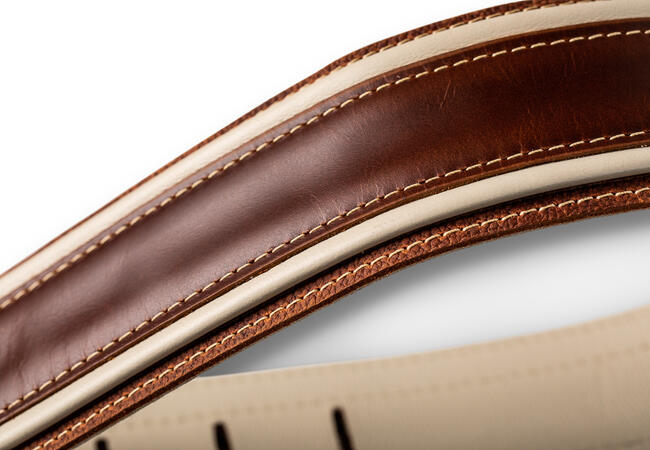 """TaylorWare 4113-25 Taylor Element Strap, Brown/Cream Leather, 2.5"""""""