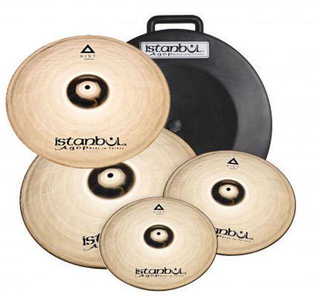 "Istanbul Agop IXBS4 Xist Brilliant Cymbal Set + Deluxe Bag (14""/16""/20""+18"")"