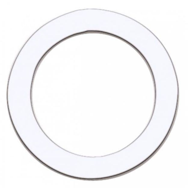 """Remo DynamO, 5-1/2"""" Hole Cutting Template for Bass Drum  1 Pc Pack, White"""
