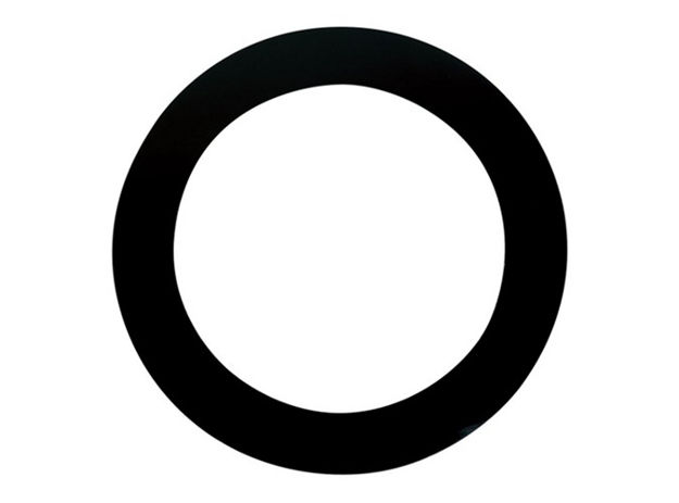 """Remo DynamO, 5-1/2"""" Hole Cutting Template for Bass Drum 1 Pc Pack, Black"""