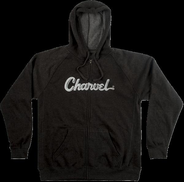 Charvel Logo Hoodie, Charcoal, XXL