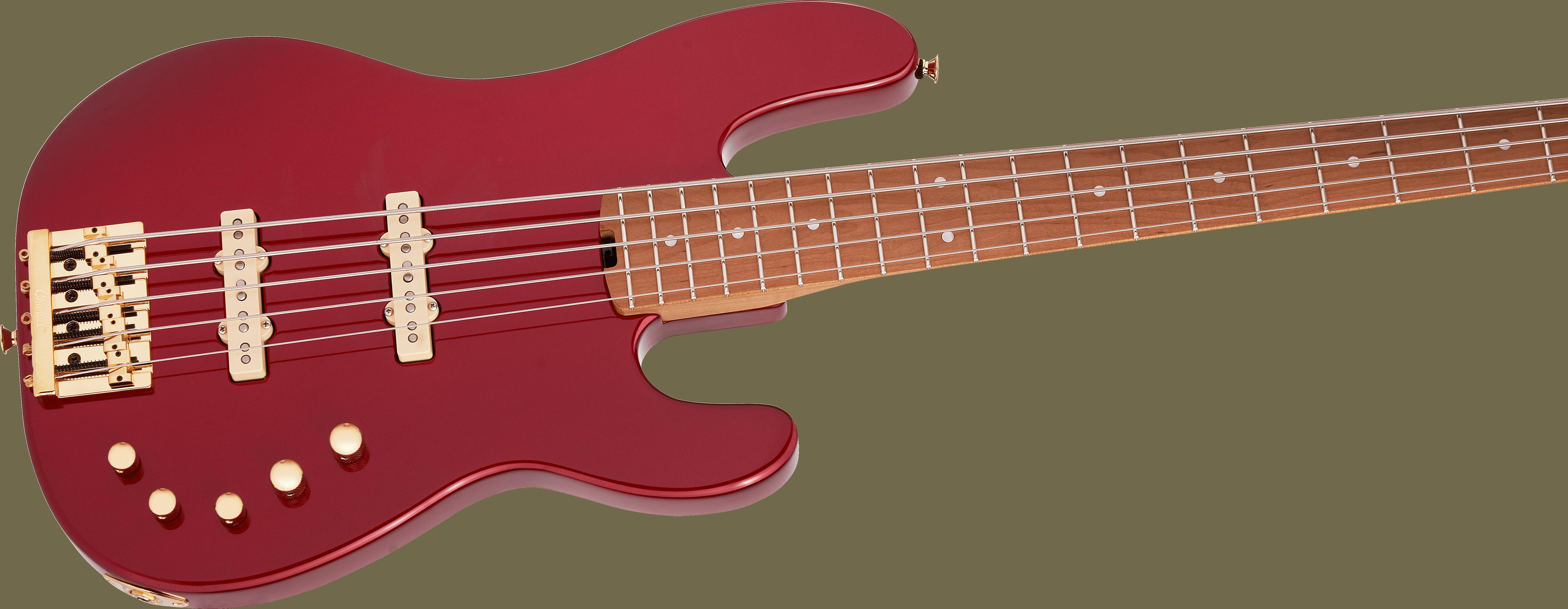 Charvel Pro-Mod San Dimas® Bass JJ V, Caramelized Maple Fingerboard, Candy Apple Red