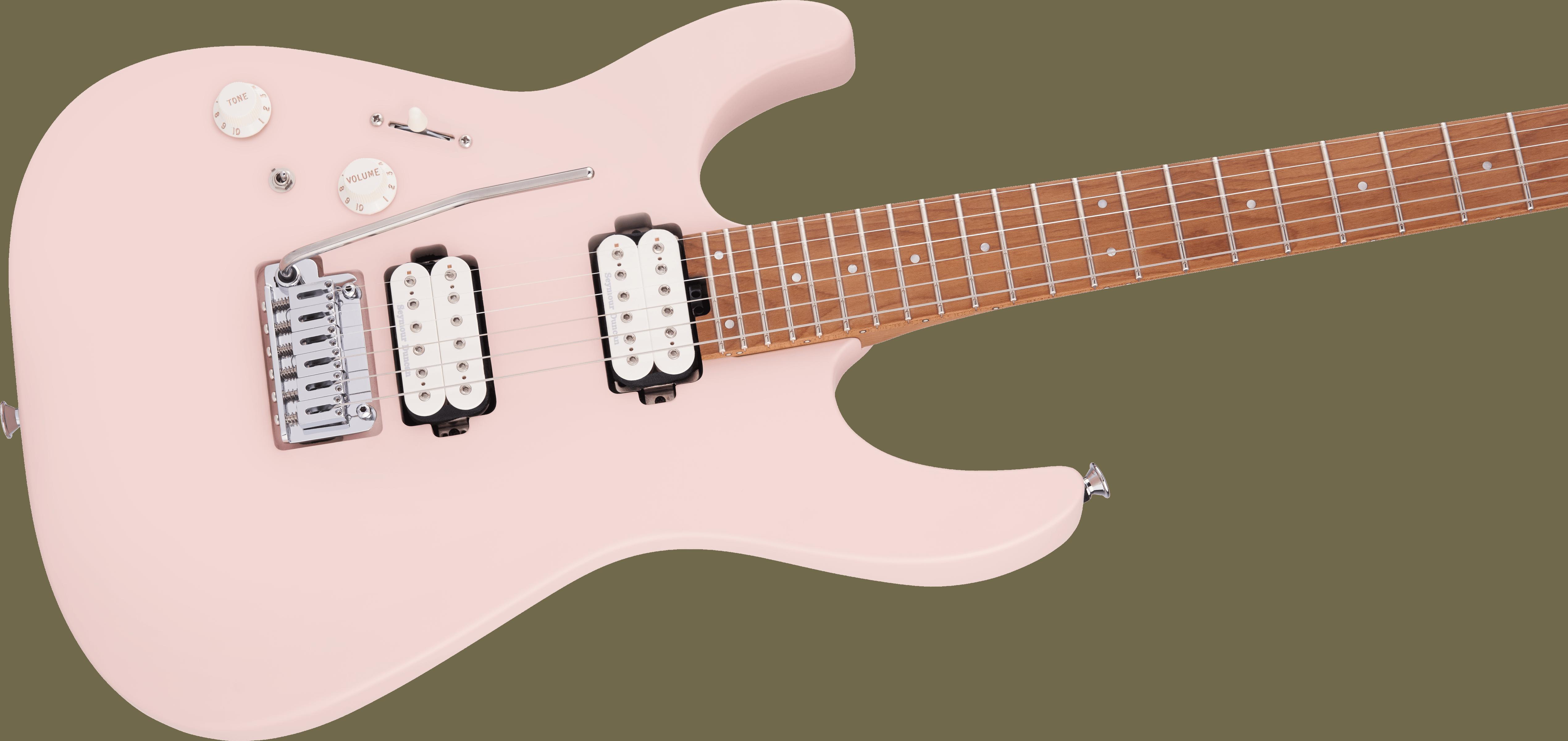 Charvel Pro-Mod DK24 HH 2PT CM LH, Caramelized Fingerboard, Satin Shell Pink