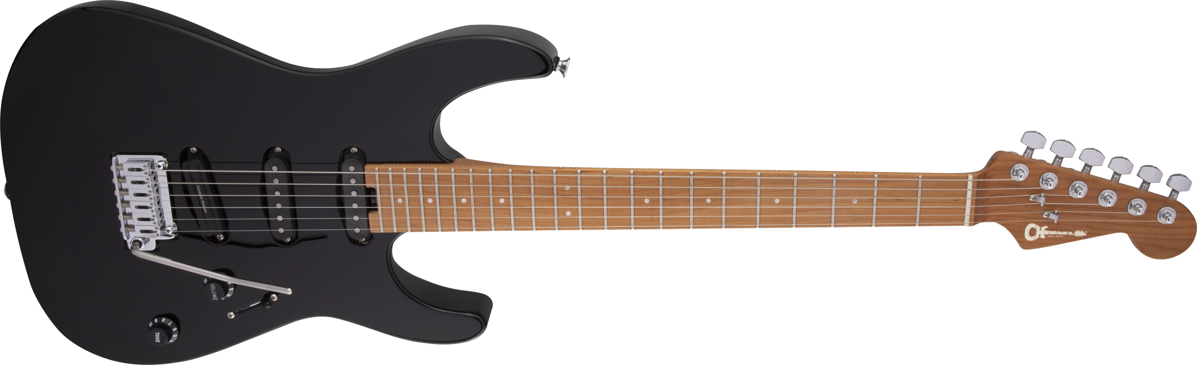 Charvel Pro-Mod DK22 SSS 2PT CM, Caramelized Maple Fingerboard, Gloss Black