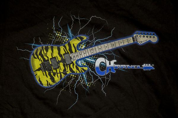 Charvel Satchel Yellow Bengal Guitar Graphic T-Shirt, Black, M