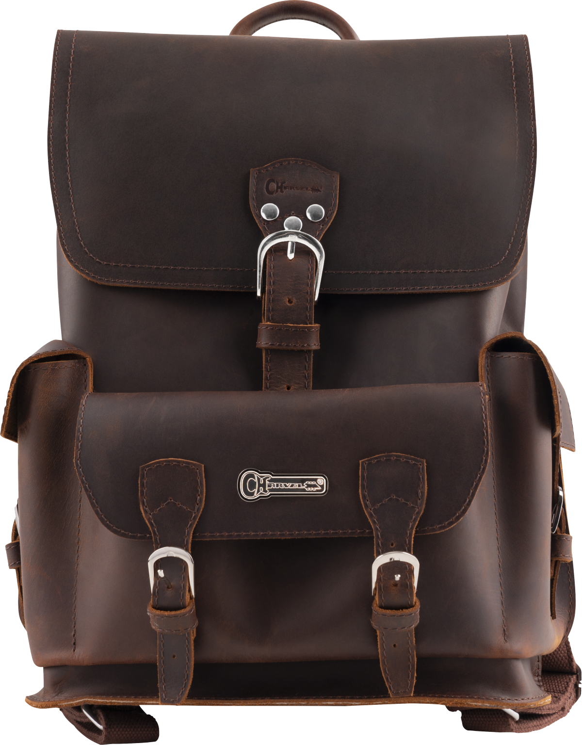 Charvel® Limited Edition Leather Backpack, Brown