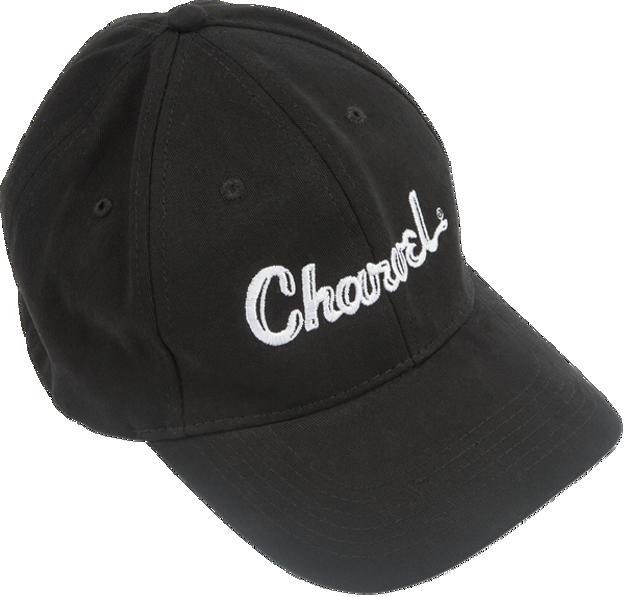 Charvel Toothpaste Logo Flexfit Hat, Black, L/XL