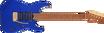 Charvel Pro-Mod DK24 HSH 2PT CM, Caramelized Maple Fingerboard, Mystic Blue