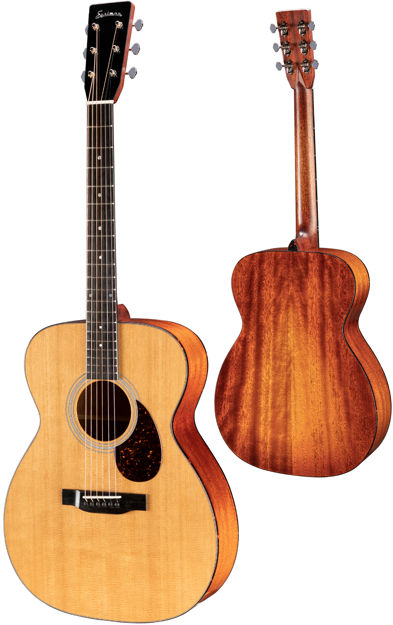 Eastman E6 OM TC - All Solid, Thermo cured Sitka Spruce top, Mahogany back and sides & Case