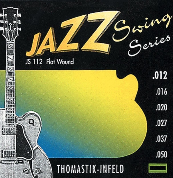 Thomastik-Infeld Strings for E-guitar Jazz Swing Series Nickel Flat Wound Set  012 flatwound - JS112