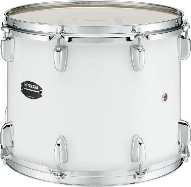 """Yamaha MT4013W Marching Tom 13""""x10 Tenor Drum, White"""
