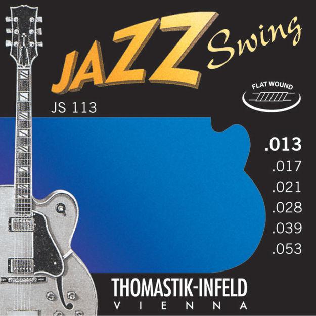 Thomastik-Infeld Strings for E-guitar Jazz Swing Series Nickel Flat Wound Set 013 flatwound - JS113