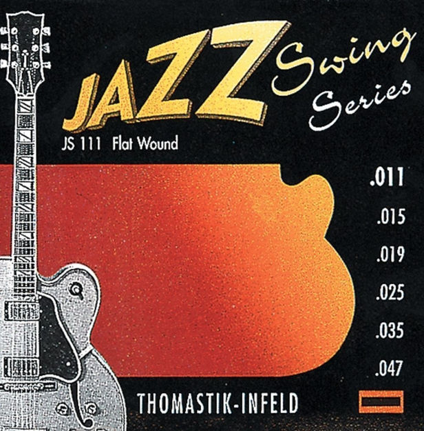 Thomastik-Infeld Strings for E-guitar Jazz Swing Series Nickel Flat Wound Set 010 flatwound - JS110