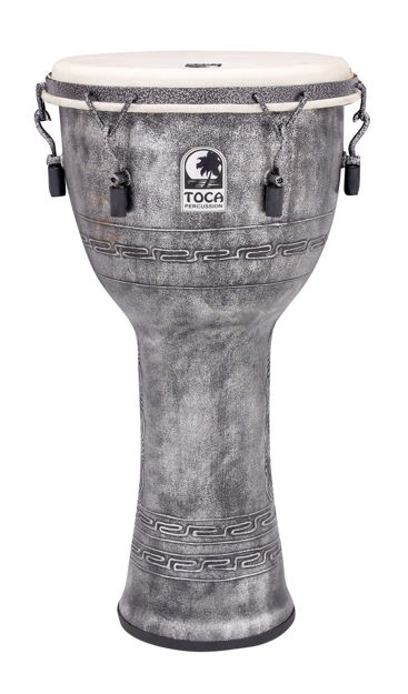 Toca Djembe Freestyle Mechanically Tuned Antique Silver - SFDMX-12AS