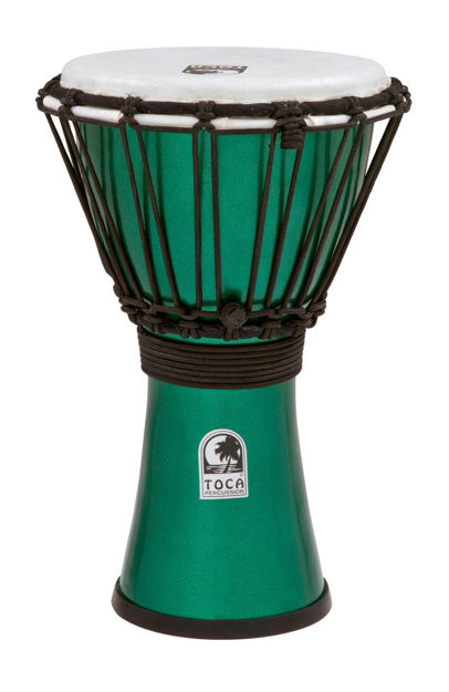 Toca Djembe Freestyle Colorsound Metallic Green - TFCDJ-7MG