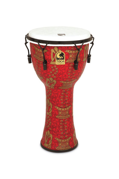 Toca Djembe Freestyle II Mechanically Tuned Red Mask - TF2DM-12RM