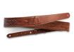 "TaylorWare 4201-20 Taylor Vegan Leather Strap,Med Brown w/Stitching 2.0"",Embossed Logo"