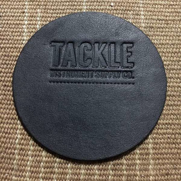 Tackle Leather Bass Drum Beater Patch Small - Black