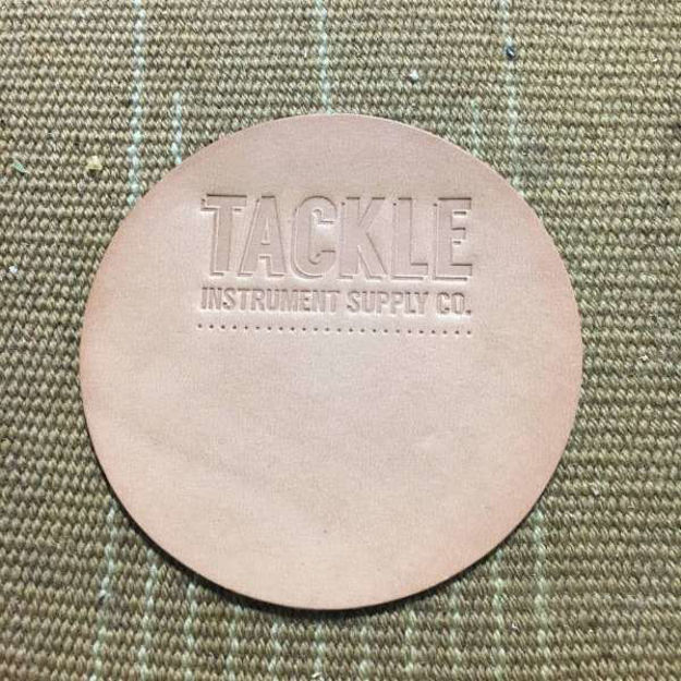 Tackle Leather Bass Drum Beater Patch Large - Natural