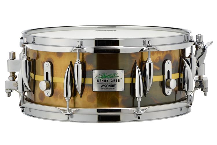 Sonor Signature Snare Drum Benny Greb Brass Shell 1.2mm SSD 13x5.75 BG SDB 2.0