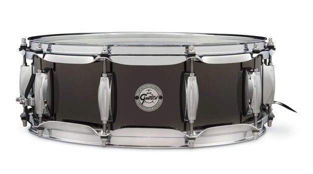 "Gretsch Snare Drum Full Range  - 14""x5 Black Nickel Steel"