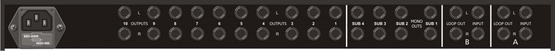 ARX i-SwitchSub Linjevelger   12 kanaler, 2 x TRS inn til 10 x TRS ut