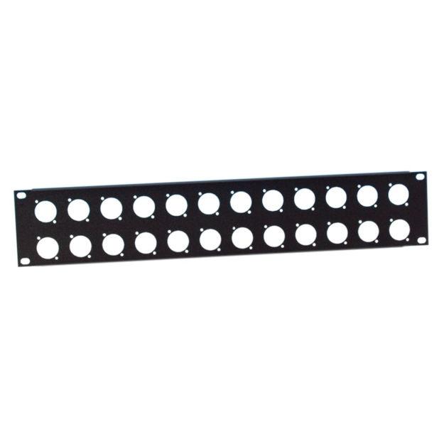 "Adam Hall 19"" Parts 872214 - 19"" U-Shaped Rack Panel 24 Sockets 2 U"