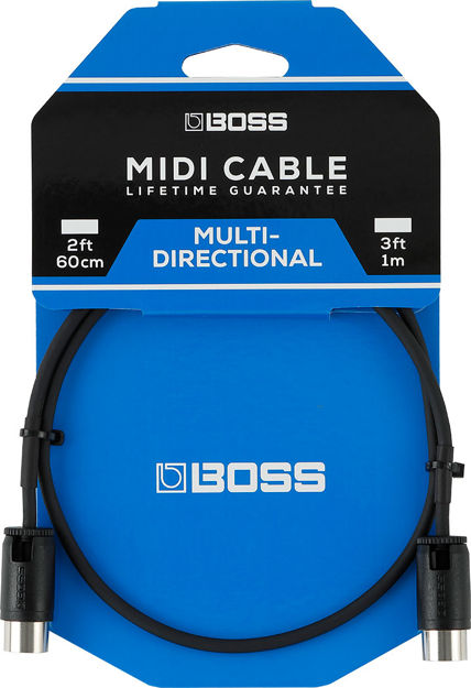 Boss 2ft / 60cm MIDI CABLE WITH ADJUSTABLE CABLE ANGLE