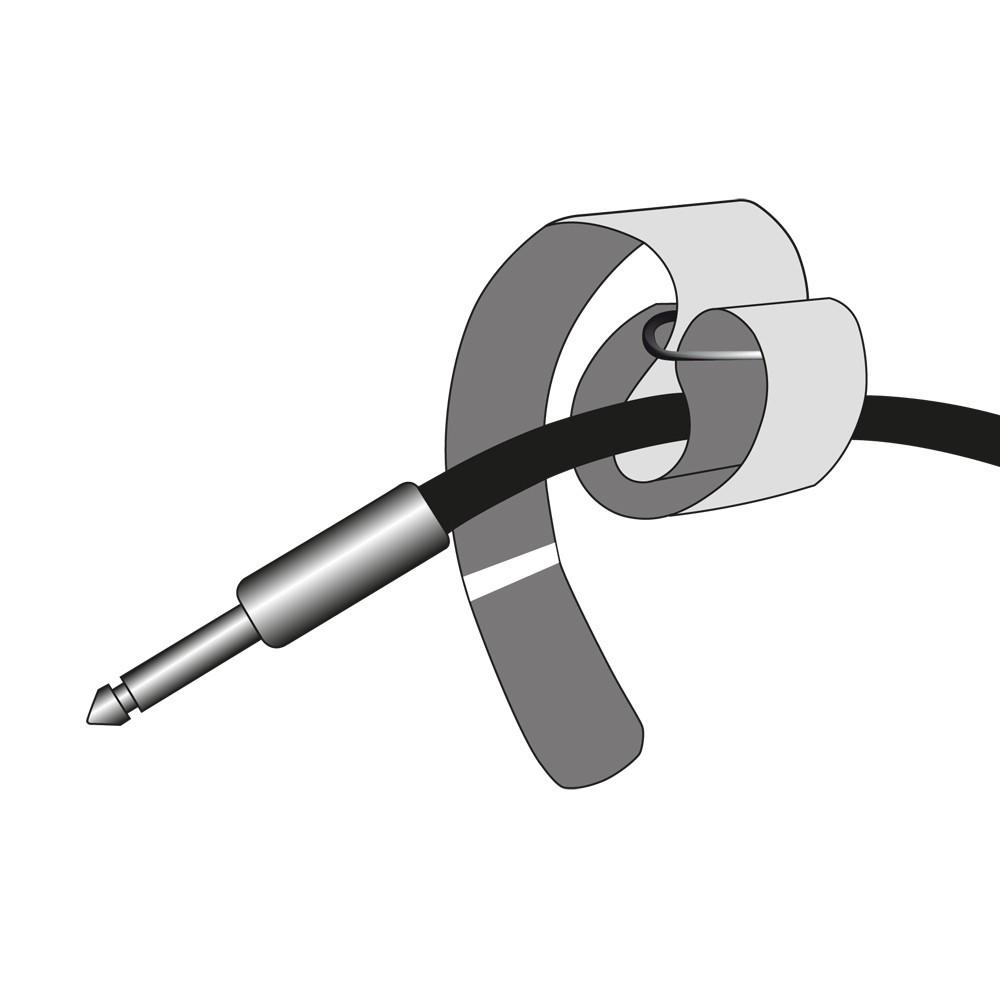 Adam Hall Accessories VR 2020 YEL Hook and Loop Cable Tie