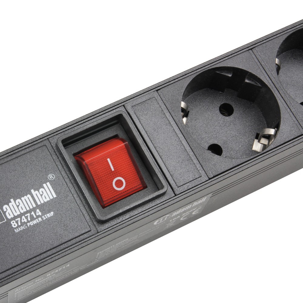 Adam Hall Accessories 874714 Mains Power Strip with 14 Sockets