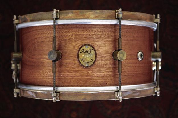 A&F 5,5X14 Mahogany Club w/Brass Hoops