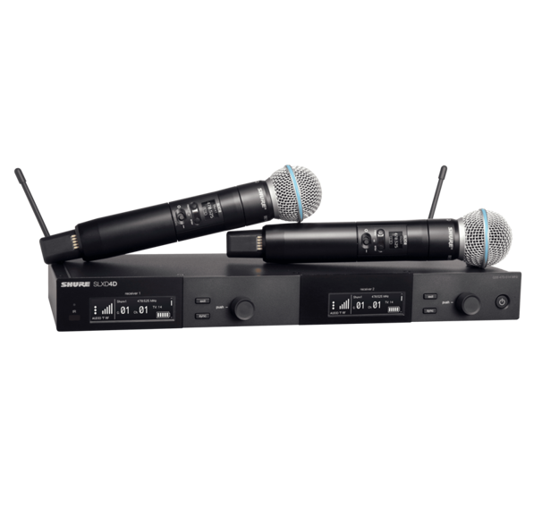Shure SLXD DUAL HH SYS BETA58A 823-832 og 863-865MHz