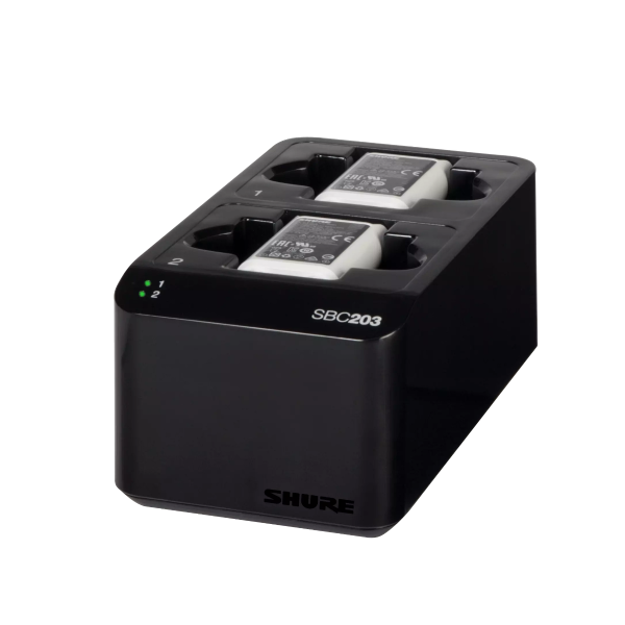 Shure Dual Docking Charger for SLXD1/SLXD2 - SB903 battery