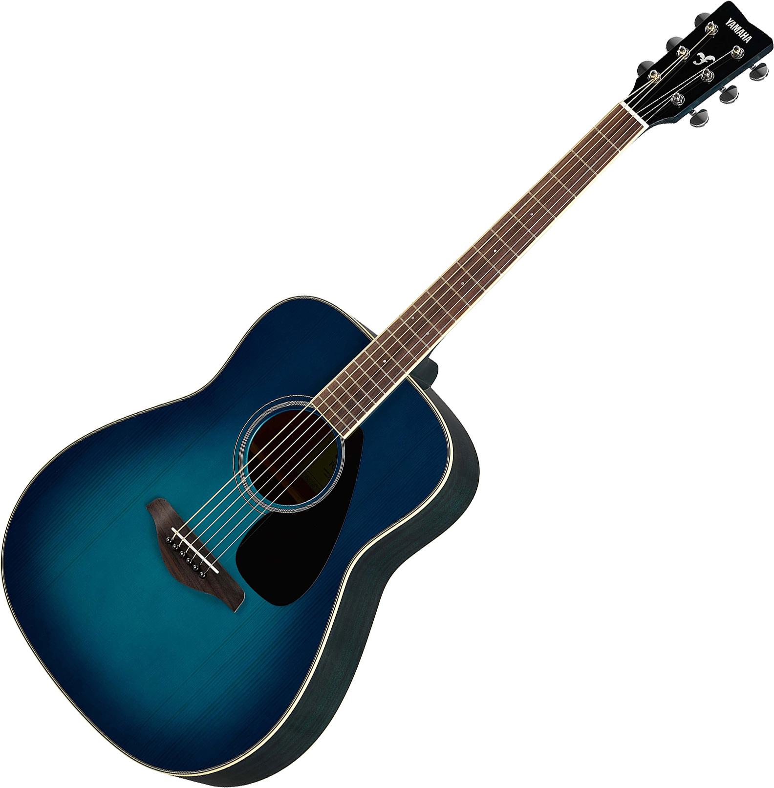 Yamaha Folk Guitar FG820 SUNSET BLUE 02