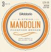 D'Addario EJ74-3D Mandolin Strings, Phosphor Bronze, Medium, 11-40, 3 Sets