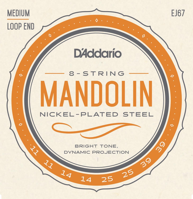 D'Addario EJ67 Nickel Mandolin, 11-39