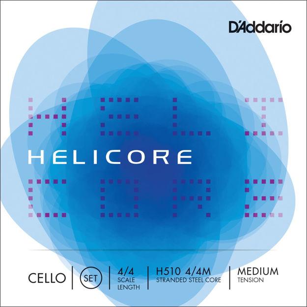 D'Addario Helicore Cello String Set, 4/4 Scale, Medium Tension