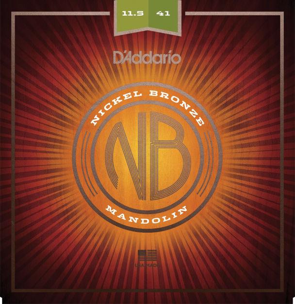 D'Addario NBM11541 Nickel Bronze Mandolin Set, Med-Hvy, 11.5-41