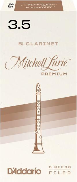 Mitchell Lurie Premium Bb Clarinet Reeds, Strength 3.5, 5 Pack