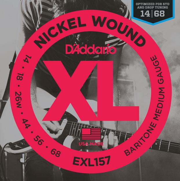 D'Addario EXL157 Nickel Wound Electric Guitar Strings, Baritone Medium, 14-68