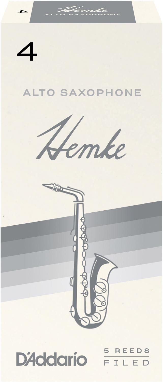 Frederick L. Hemke Alto Saxophone Reeds, Strength 4.0, 5 Pack
