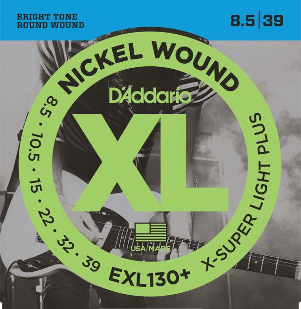 D'Addario EXL130+ Nickel Wound Electric Guitar Strings, Extra-Super Light Plus, 8.5-39