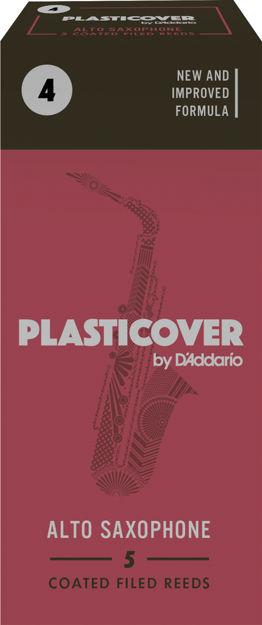 Plasticover by D'Addario Alto Sax Reeds, Strength 4, 5-pack